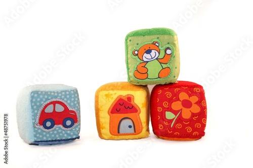 Cubi giocattolo in stoffa