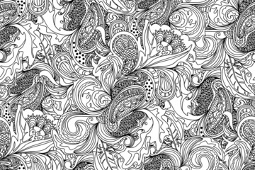 Abstract doodles pattern