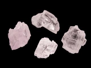 Pink crystals of gemmy spodumene