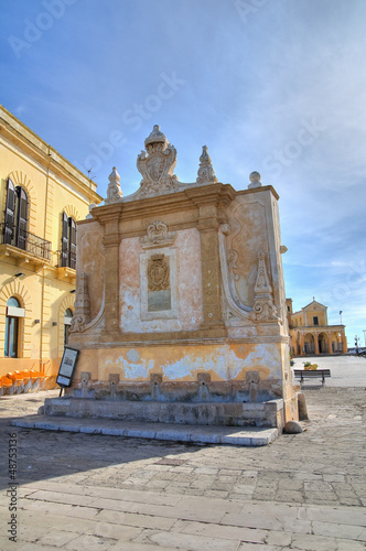 Greek fountain. Gallipoli. Puglia. Italy.