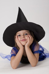 little witch, white background