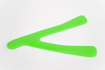 Boomerang plastic on a white background