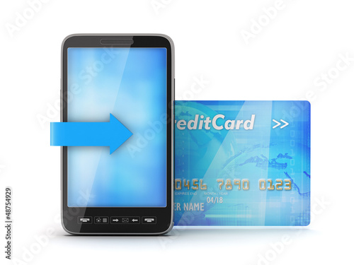 Mobile phone and credit card