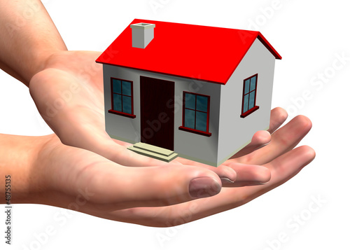 HOUSE IN HAND - 3D