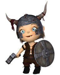 Cute Toon Baby Viking