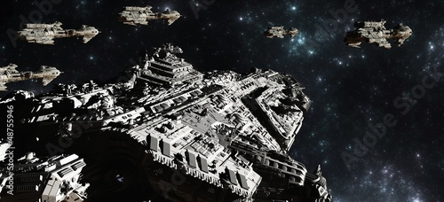 Space Battle Fleet Deployment - 48755946