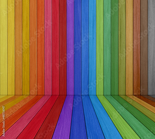 Multi colored Wooden Room
