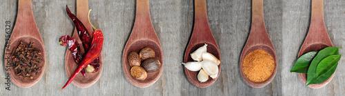 Obraz na Szkle Spice collection