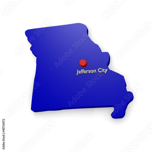 3d map of Missouri