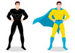 Stock vector of a superhero posing