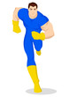 Vector illustration of a superhero running