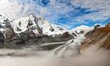 Grossglockner -  panoramic photo of sunrise
