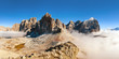 Panoramic view of Italian Dolomities - Group Tofana