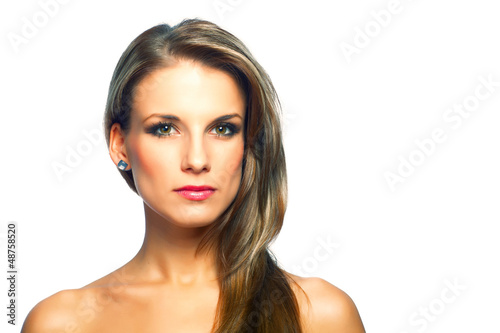 Portrait of beautiful young woman