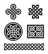 Celtic knots patterns - vector - 48758725