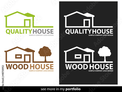 Company Logo House Design,Vector