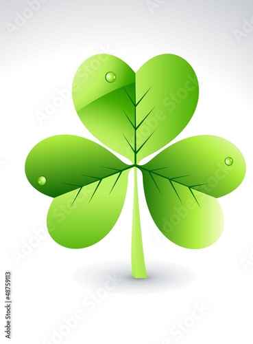 abstract glossy green clover