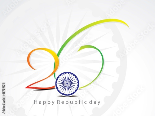 abstract republic day background with chakra