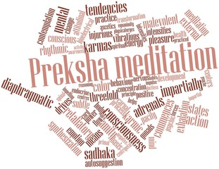 Word cloud for Preksha meditation