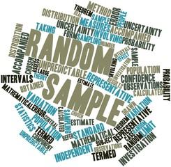 Word cloud for Random sample