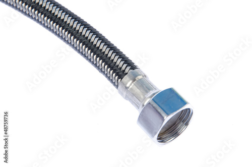 Gray corrugated pipe