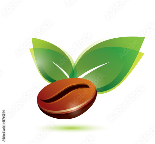 coffee bean natural, stylized icon