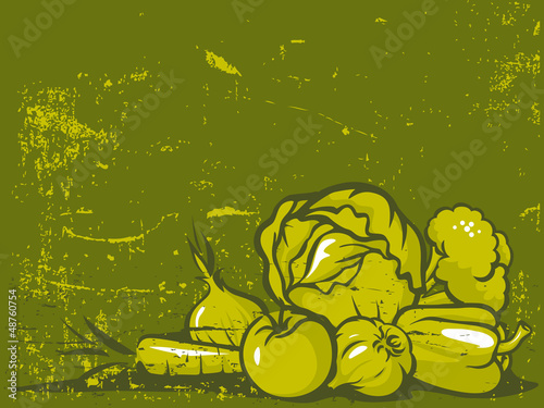 green vegetable vintage background