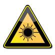 Achtung Laser, Warnhinweis, Schild