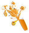Fresh juice orange.Summer exotic rest