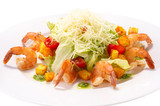 Caesar Salad with Seafood.