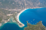 Oludeniz from the air, Turkey