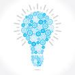 blue gear bulb stock vector