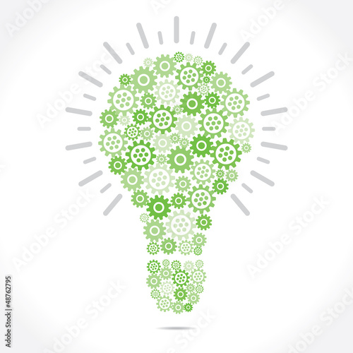 green gear bulb stock vector