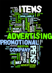 Advertising Pens Fast And Easy To Apply Concept