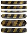 6 plaques en bois grunge