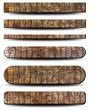 6 plaques -  Textures peau de crocodile