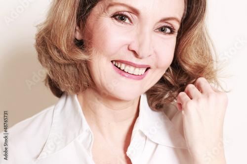 glückliche Frau