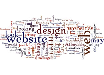 Affordable Website Design In Manchester Concept