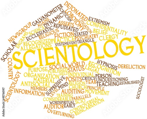 Word cloud for Scientology