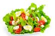 Tomato salad, eggs and mozzarella