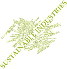 Word cloud for Sustainable industries