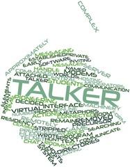 Word cloud for Talker