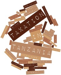 Word cloud for Taxation in Tanzania
