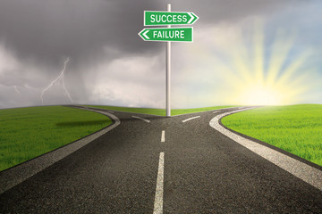 Road way to success or failure