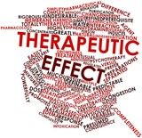 Word cloud for Therapeutic effect poster