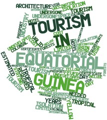 Word cloud for Tourism in Equatorial Guinea