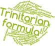 Word cloud for Trinitarian formula