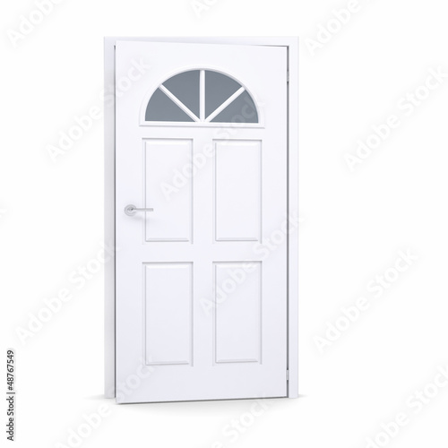 White door slightly open