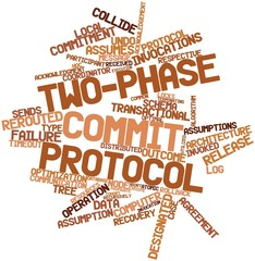 Word cloud for Two-phase commit protocol