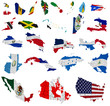North America countries flag maps